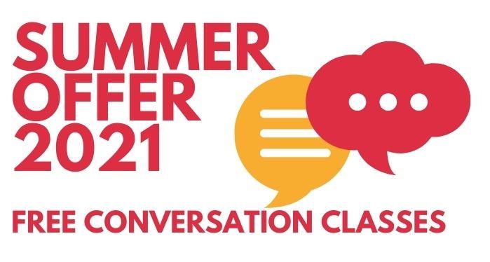 free English conversation class offer